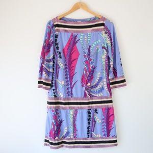 Ali Ro Sky Blue Floral 3/4 Sleeve Sheath Dress